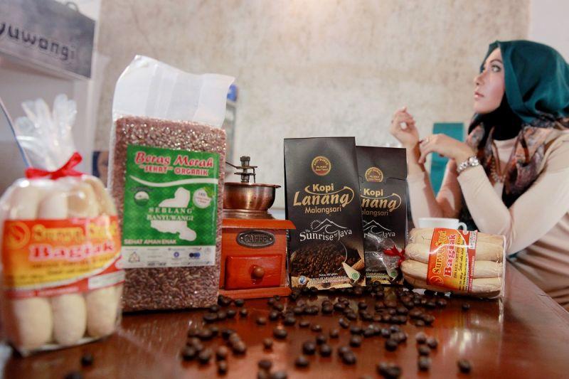 Sejumlah produk olahan pertanian dari Banyuwangi