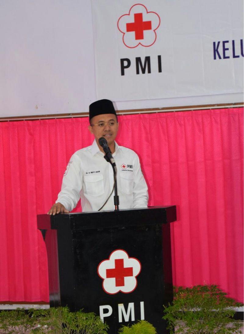 Ketua PMI Banyuwangi dr Mufti Aimah Nurul Anam