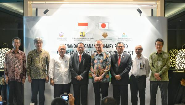 Penandatanganan Summary Record On The Java North Line Upgrading Project.